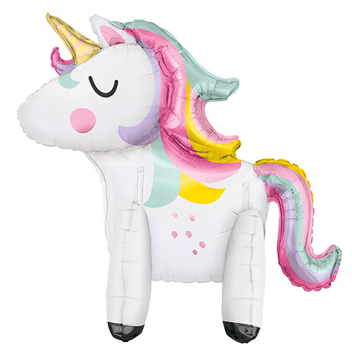 Standing Unicorn Air Fill Giant Foil Balloon Kit 76cm / 30 in Product Image