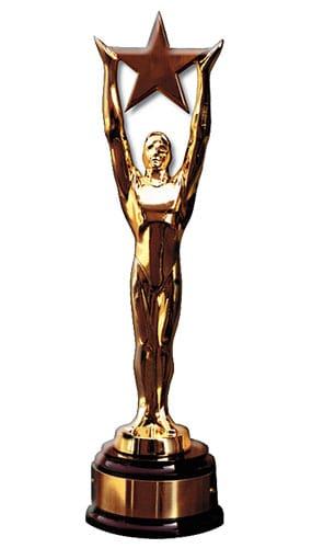 Star Award Statue Lifesize Cardboard Cutout 182cm Product Image