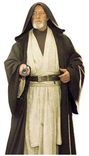 Star Wars Alec Guinness Obi Wan Kenobi Lifesize Cardboard Cutout - 182cm Product Image