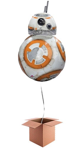 Star Wars BB-8 Helium Foil Giant Balloon - Inflated Balloon in a Box Product Image