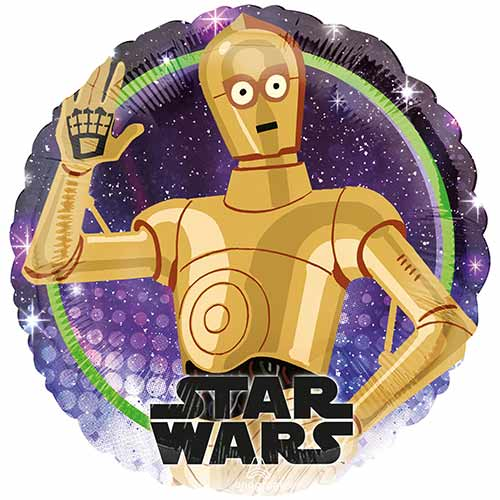 Star Wars C-3PO Round Foil Helium Balloon 43cm / 17 in Product Image