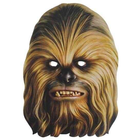 Star Wars Chewbacca Cardboard Face Mask Product Image