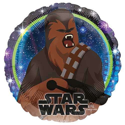 Star Wars Chewbacca Round Foil Helium Balloon 43cm / 17 in Product Image