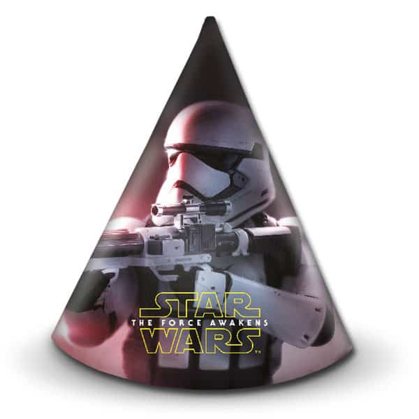 Star Wars Force Awakens Cone Party Hats - Pack of 6