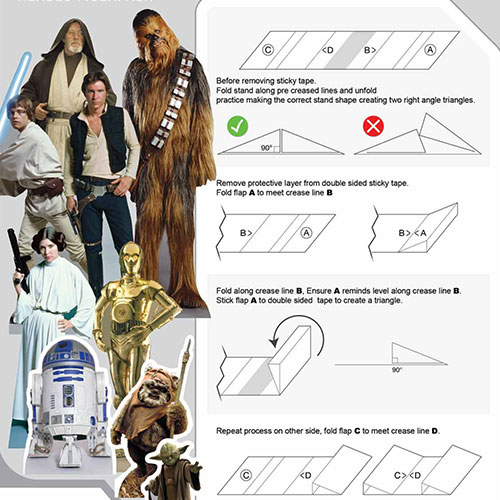 Star Wars Heroes Table Top Cutout Decorations - Pack of 9 Product Gallery Image