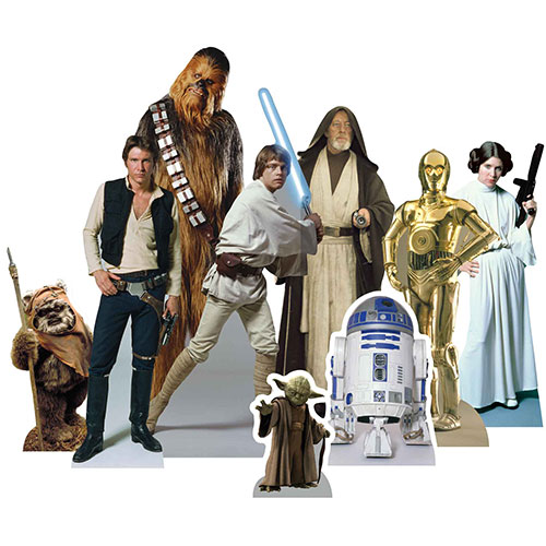 Star Wars Heroes Table Top Cutout Decorations - Pack of 9