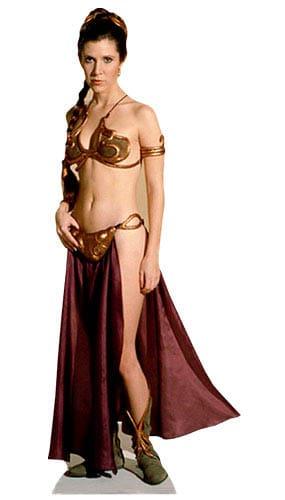 Star Wars Princess Leia Gold Bikini Cardboard Cutout Product Image
