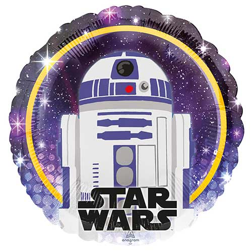 Star Wars R2-D2 Round Foil Helium Balloon 43cm / 17 in Product Image