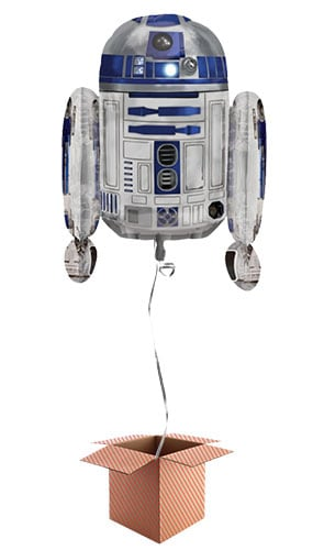 Star Wars R2-D2 Helium Foil Giant Balloon - Inflated Balloon in a Box Product Image