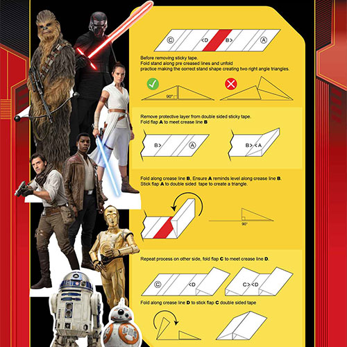 Star Wars Rise Table Top Cutout Decorations - Pack of 8 Product Gallery Image