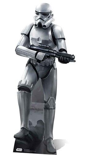Star Wars Stormtrooper Battle Pose Lifesize Cardboard Cutout - 188cm Product Image