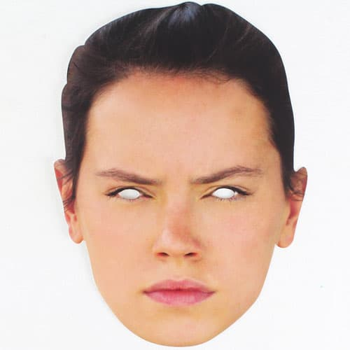 Star Wars The Force Awakens Rey Cardboard Face Mask Product Image
