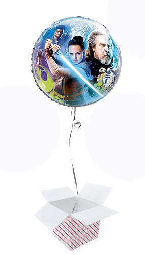Star Wars The Last Jedi Bubble Helium Qualatex Balloon - Inflated Balloon in a Box Product Image