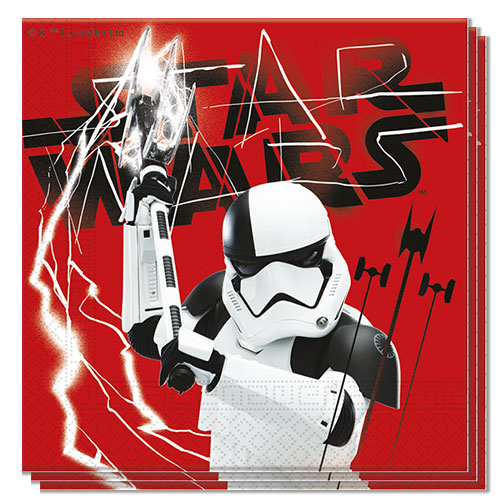 Star Wars The Last Jedi Luncheon Napkins 33cm 2Ply - Pack of 20 Bundle Product Image