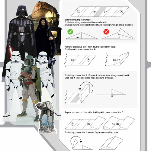 Star Wars Villains Table Top Cutout Decorations - Pack of 7 Product Gallery Image