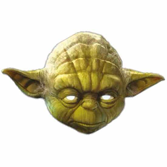 Star Wars Yoda Cardboard Face Mask Product Image