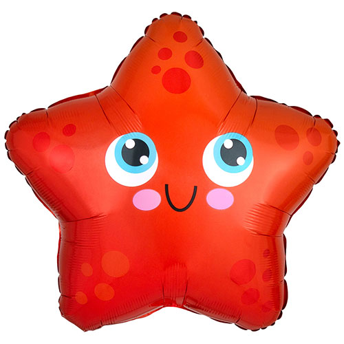 Starfish Shaped Standard Foil Helium Balloon 43cm / 17 in Product Image