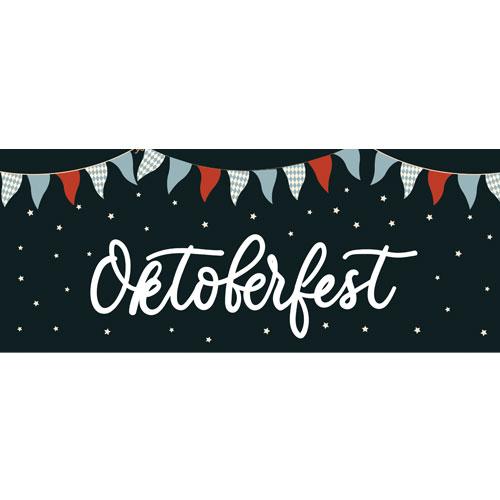 Stars Oktoberfest Large PVC Banner Decoration 3m x 1.2m Product Image
