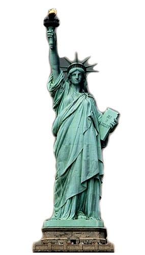 Statue Of Liberty Lifesize Cardboard Cutout - 213cm