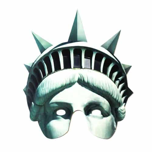 Statue of Liberty Cardboard Face Mask Product Image
