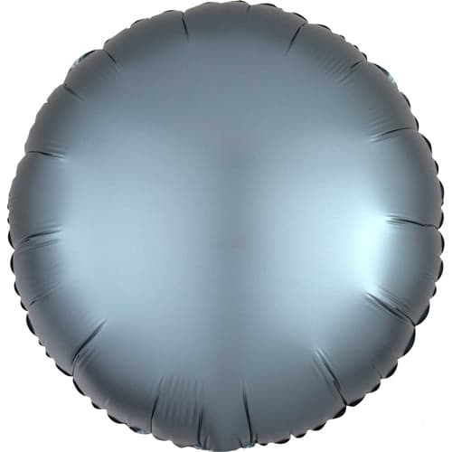 Steel Blue Satin Luxe Round Foil Helium Balloon 43cm / 17Inch Product Image