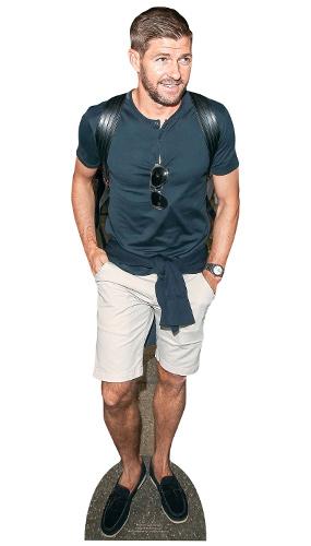 Steven Gerrard Casual Star Mini Cardboard Cutout 90cm