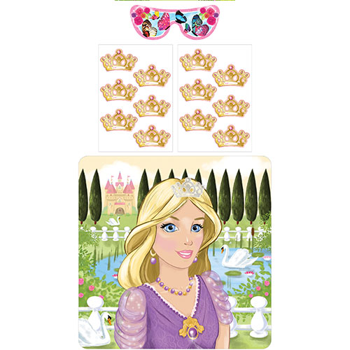 Stick The Crown Princess Party Game