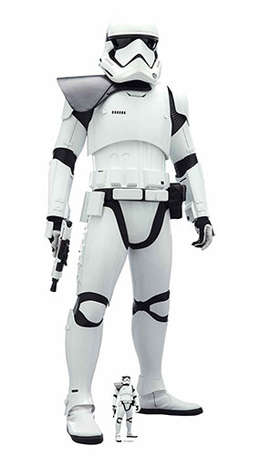 Stormtrooper Shoulder Flash Star Wars The Rise of Skywalker Lifesize Cardboard Cutout 182cm Product Image