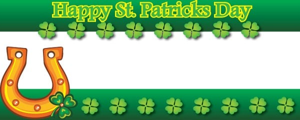 Happy Saint Patricks Day Lucky Shoe Design Small Personalised Banner- 4ft x 2ft