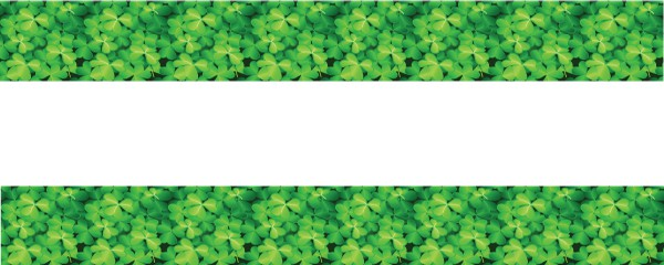 St. Patricks Day Seamless Clover Design Small Personalised Banner- 4ft x 2ft