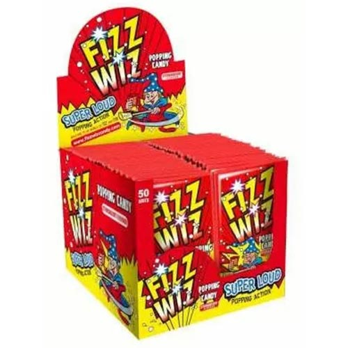 Strawberry Flavour Fizz Wiz Sweet Popping Candy - Pack of 50 Product Image