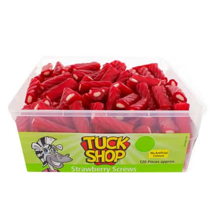 Strawberry Screws Jelly Sweets - Pack of 120 Product Image