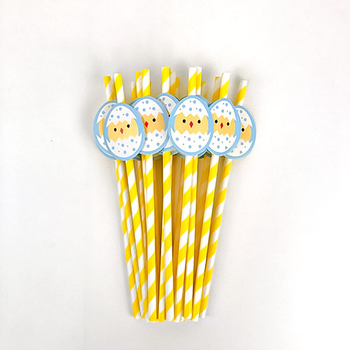 Assorted Easter Paper Straws - Pack of 20 Product Gallery Image