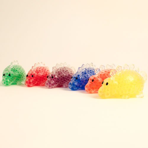 Stress Relief Squishy Squeeze Dinosaur Toy With Beads 12cm