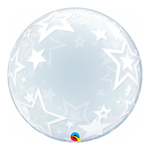 Stylish Stars Deco Bubble Helium Qualatex Balloon 61cm / 24Inch Product Image