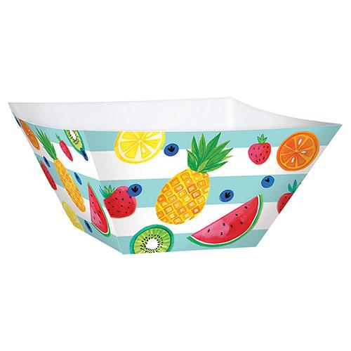 Summer Fruits Paper Bowls 26cm - Pack of 3