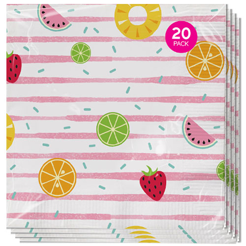 Assorted Summer Luncheon Napkins 33cm 3Ply - Pack of 20 Product Image