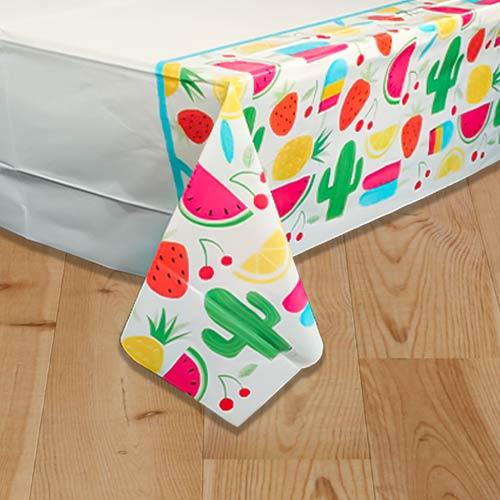 Summer Sweet & Succulent Plastic Tablecover 213cm x 137cm