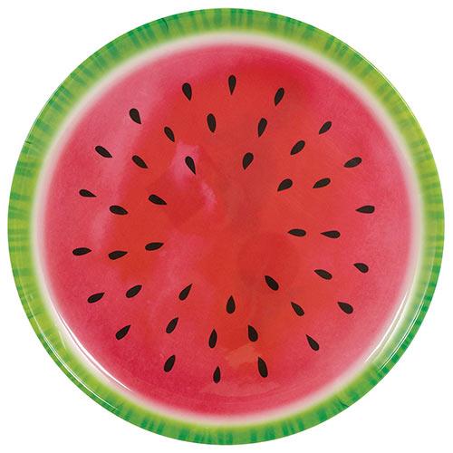 Summer Watermelon Round Reusable Plastic Platter 34cm Product Image