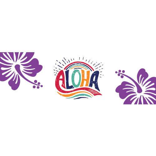 Aloha Hawaiian PVC Party Sign Decoration 60cm x 20cm Product Image