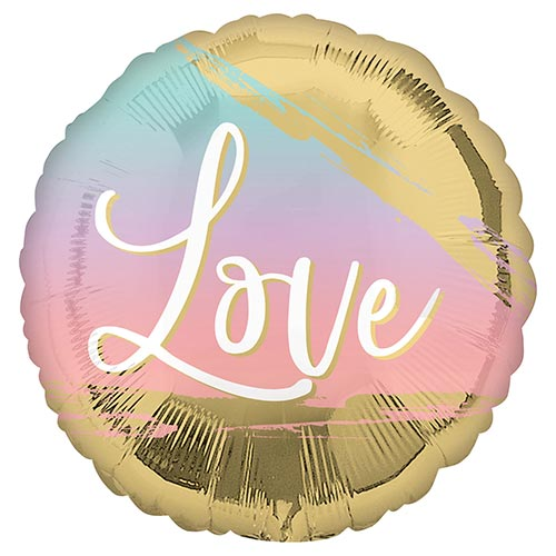 Sunset Love Round Foil Helium Balloon 43cm / 17 in Product Image