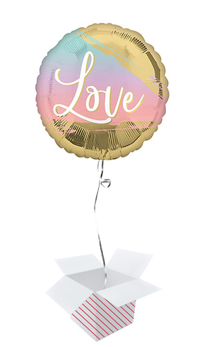 Sunset Love Round Foil Helium Balloon - Inflated Balloon in a Box Product Image