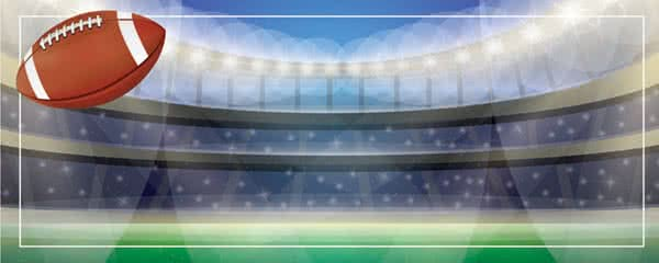Super Bowl Arena Design Large Personalised Banner - 10ft x 4ft