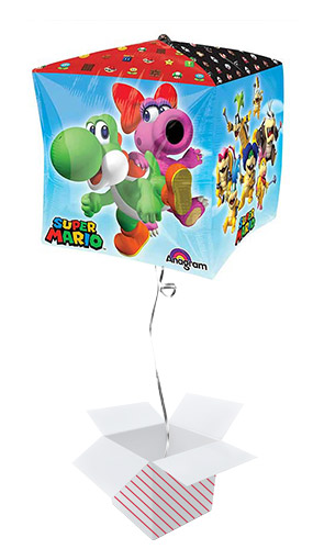 Super Mario Cubez Foil Helium Balloon - Inflated Balloon in a Box Product Image