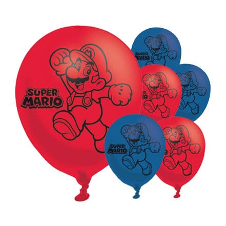 Super Mario Latex Balloons - 27cm - Pack of 6 Bundle Product Image