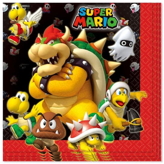 Super Mario Paper Napkin - 2 Ply - 33cm - Pack of 16