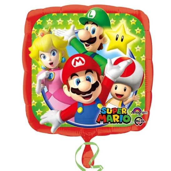 Super Mario Square Foil Helium Balloon 43cm / 17Inch Product Image