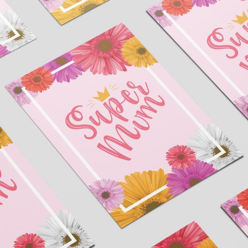 Super Mum Mother's Day A3 Poster PVC Party Sign Decoration 42cm x 30cm Product Image