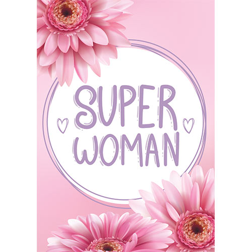Super Woman Gerbera A3 Poster PVC Party Sign Decoration 42cm x 30cm Product Gallery Image