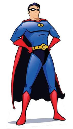 Superhero Lifesize Cardboard Cutout 186cm - PRE-ORDER